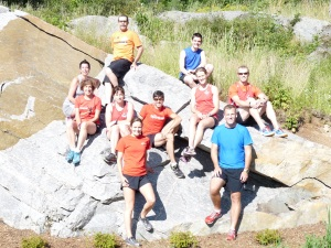 Members pose for a picture for Canadian Running Magazine