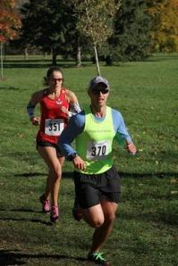 Kat Ahokas racing Sunnybrook 8K Race