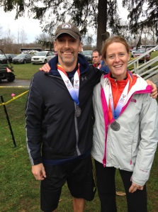Troy and Helen pose with their second place medals
