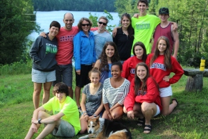 HHS Runners and Coaches with Lynn Jennings at Craftsbury