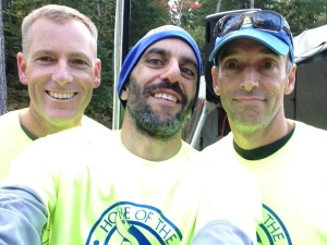 Dave, Pierre and Troy pose post time trial but pre-Hoya Hills start
