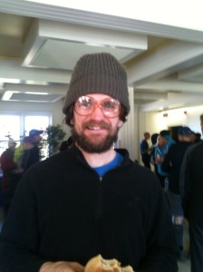Dan Quigg rocking MARS glasses post race