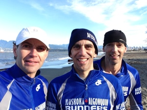 Prez in middle at Canadian XC Championships