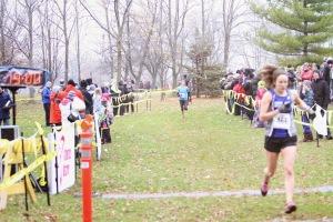 Kat Ahokas at finish