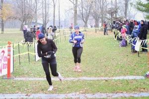 Tina Steele at finish