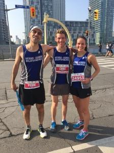 Pierre, Chris and Kat post race