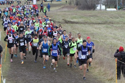 Troy Cox, Mark Sinnige and Chris Watson go out aggressively at Canadian XC Championships