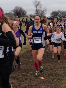 Kat Ahokas in the Senior Women's race