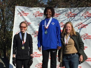 Mary Unsworth, right, 2nd place W35-39