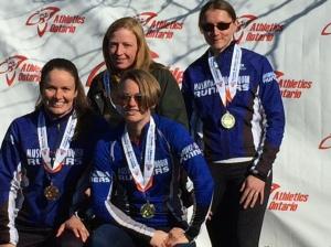 Gold Medal W30-39 Team Kat Ahokas, Mary Unsworth, Jess Sheppard, Melissa Kosowan